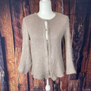 Vintage Valentino Jeans Taupe Cardigan Sweater M